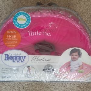 Boppy pillow with pink cover